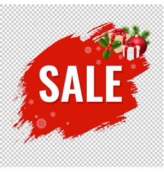 christmas sale with blob transparent background vector image
