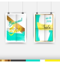 Collection of Seasonal Sale Typography Poster vector image