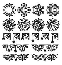 collection spider webs vector image