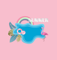 Creative summer background concept with pond vector