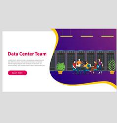 Data center team concept for website template vector