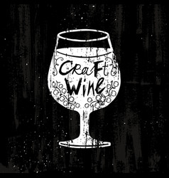 drawing craft wine concept vector image