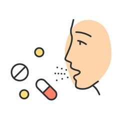 Drug allergies color icon vector