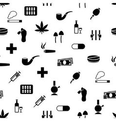 drug seamless pattern vector image