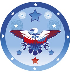 eagle july 4th vector image