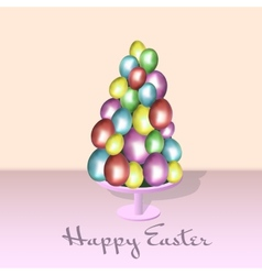 eggs color Happy easter card vector image