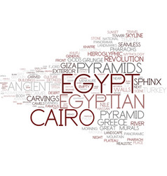 Egypt word cloud concept vector