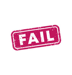 Fail stamp on white vector