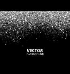 Falling glitter confetti silver dust vector