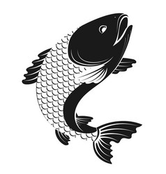 fish simple silhouette vector image