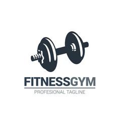 Fitness gymnasium logo vector