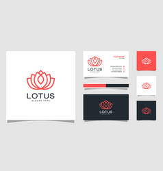 flower lotus abstract logo design template vector image