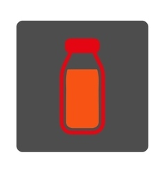 Full Bottle Rounded Square Button vector image