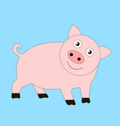 funny good pig vector image
