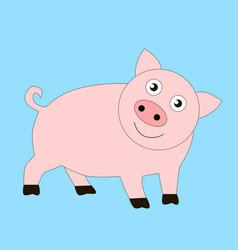 Funny good pig vector