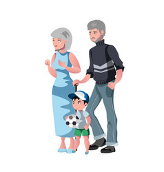 happy grandparents with grandson vector image