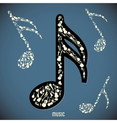 High contrast music instruments vector image