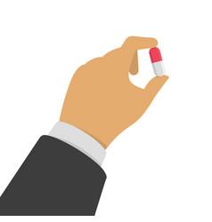 Holding pill vector