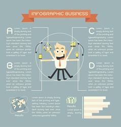 Infographics business cartoon vector