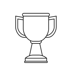 Isolated cup championship vector image