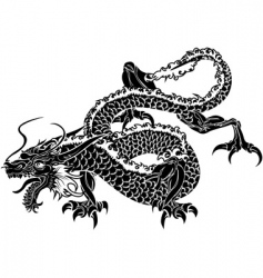 Japanese dragon vector image