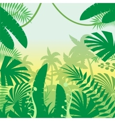 Jungle Flat Background vector