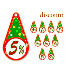Labels with christmas tree discount vector