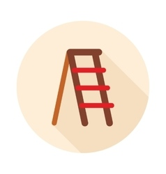 Ladder stepladder stair flat icon vector image