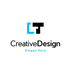 Letter t focus media pixel logo vector