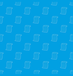newspaper pattern seamless blue vector image