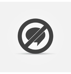 No Chat sign icon vector image