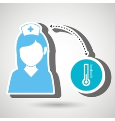 Nurse and lab tube isolated icon design vector