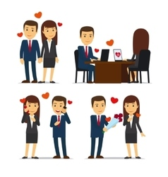 Office romance or love affair at work vector image