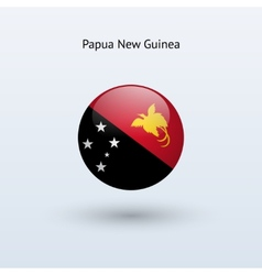 Papua New Guinea round flag vector