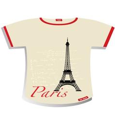 Paris T-shirt vector image