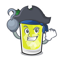 Pirate mint julep character cartoon vector