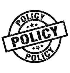 Policy round grunge black stamp vector