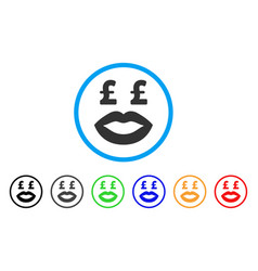 Pound prostitution smiley rounded icon vector