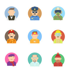Profession icons set flat style vector
