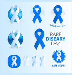race diseare day medic isolated logo blue vector image