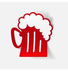 Realistic design element beer vector