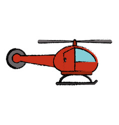 Red helicopter transport flight icon vector