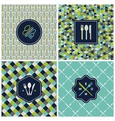Restaurant menu seamless backgrounds vector image