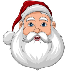 Santa Confused Face Front vector