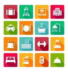 Set of hotel icons vector image vector image
