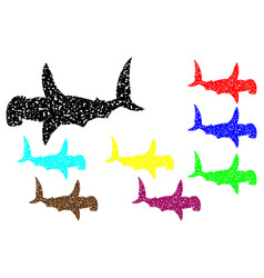 shark hammerhead silhouette vector image