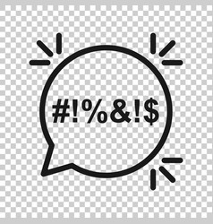 Shout speech bubble icon in transparent style vector