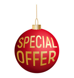special offer tree red ball icon realistic style vector image