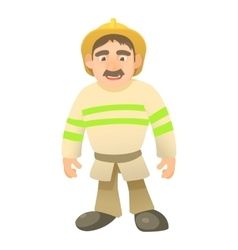 Standing firefighter icon cartoon style vector