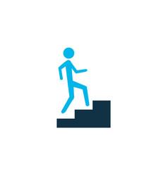 Step up icon colored symbol premium quality vector